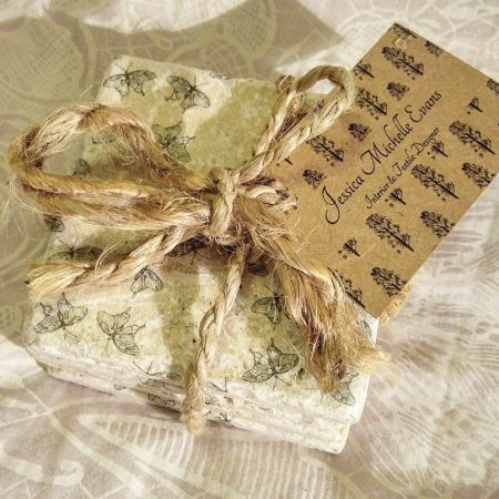 Butterfly Travertine Coasters
